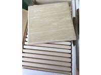 Lima Brillo – 436x Spanish Ceramic Tiles - 10x10 cm (Light Beige, Dark Beige, Light Green) £40