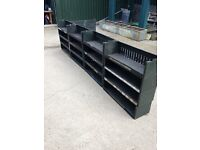 industrial vintage stackable shelves