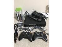 Xbox 360 with 6 games & 2 controllers