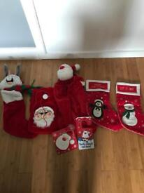 5 Christmas stockings for sale