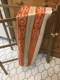 Vintage orange single curtain excellent condition