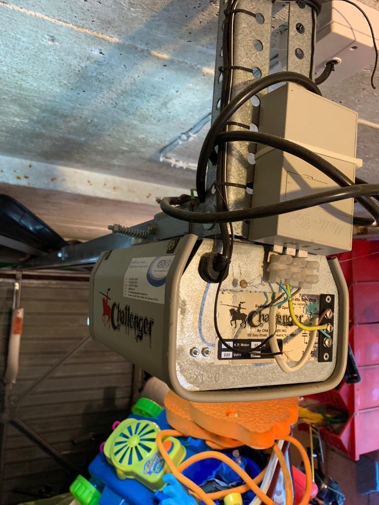 challenger electric garage door opener (with remote)