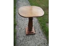 Solid Wood Pedestal Table