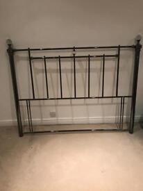 Divan metal headboard frame crystal and pewter style king size bed