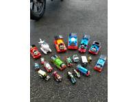 Large collection of Thomas trains