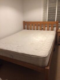 King Size solid Pine Bed bargain sale, dismantled for collection, mattress incl if needed
