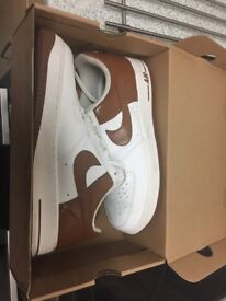 Nike Air Force 1's - White with Gold