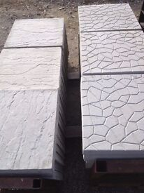 100 New 18 x 18 patio slabs, can deliver for a small fee.