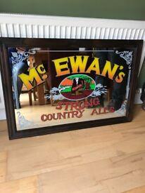 Vintage McEwans mirror