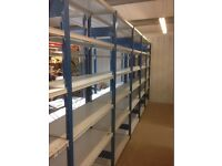 JOBLOT 8 bays of PROVOST industrial shelving 2.1m high ( storage , pallet racking )