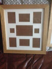 2 oak photo frames