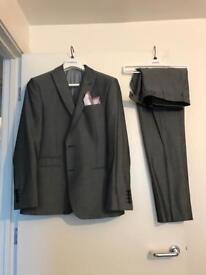 Men's 3 piece grey suit
