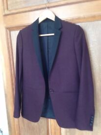 Kooples Blazer - Women's, Cashmere, Oxblood, Size 8, Hardly Worn (was €500 new)