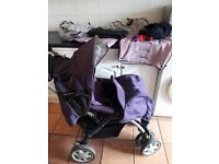Purple Baby design Sprint collection buggy/pram with baby carrier