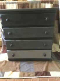 Chest of drawers in grey tones