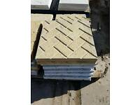 Herringbone 450x450 paving slabs **defects**