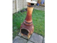 Chiminea outdoor burner