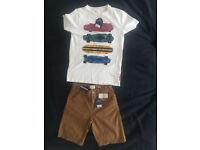 Fatface T-shirt and shorts age 12-13 in brand new with labels attached