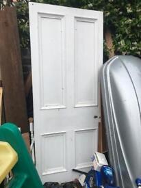 Reclaimed interior door