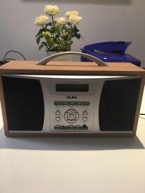 Alba DAB digital wooden radio with mains power