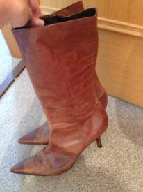 Ladies Topshop leather boots