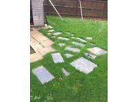 Free Used Assortment of Slate Paving Patio Slabs