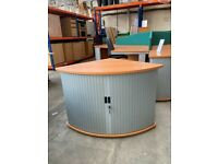Cherry Desk High Tambour Cupboard, Matching Furniture Available