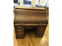 Vintage roll top desk with key