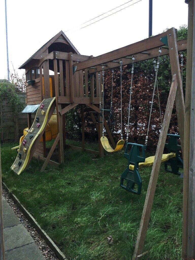 Garden Wooden Playhouse System High House Slide Swings Seesaw Monkey Bars And More In Wakefield West Yorkshire Gumtree