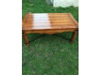 Coffee table with matching console table