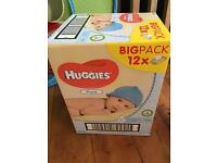 Huggies Baby Wipes x 12