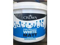 Crown White Emulsion 10 litre Paint Pot