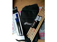 Drumsticks and case