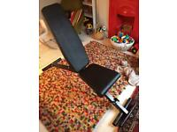 Flat/reclining gym and exercise bench