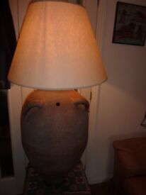 Genuine Olive Pot Lamp Huge 50 inches Tall Great Statement Light