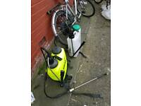 Two Wheel washer cleaner