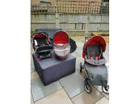 Hauck Pram/Carrycot/Baby Seat and Isofix base unit