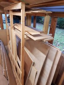 Large wood storage shelf and wood PURLEY
