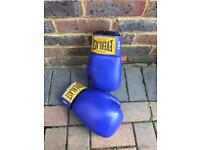 Blue men's Everlast boxing gloves
