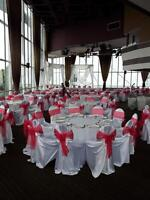 $ 3.00 per person - chair covers,linens,napkins,sashes.RENT NOW