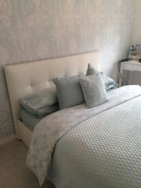 King size bed frame and pocket sprung mattress