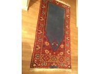 """wool vintage handmade Persian carpet / rug 5' x 2'6"""""""