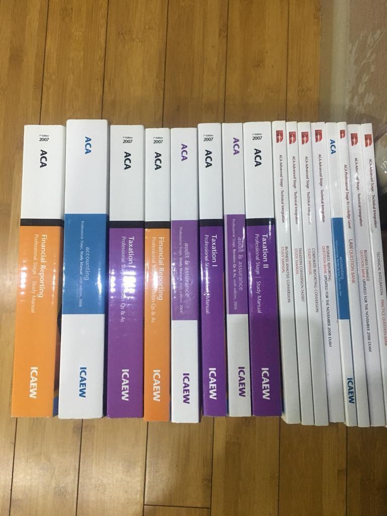 Full ACA ICAEW course books