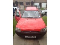 Ford Escort Van 1 Year MOT 02 reg Red, good condition inside and out drives superb with Roof bars
