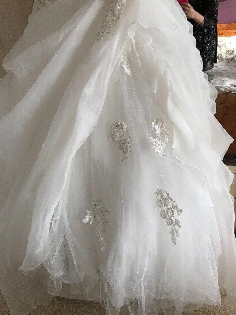 Madeline Gardner New York size 12, ivory wedding dress