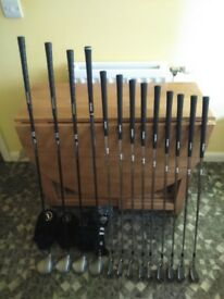 Full set of Tommy Armour irons 3/sw set of mirage woods and cleveland hybrid