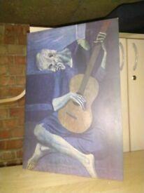Picasso guitarist print central London