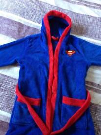 Boys superman dressing gown