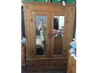 Solid pine funiture for quick sale, dresser, wardrobe and chest of draws !!