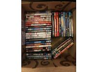 Box of various DVD's